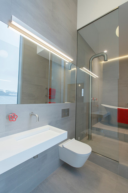 above mirror bathroom lights kennington water tower contemporary bathroom 15348 | contemporary bathroom