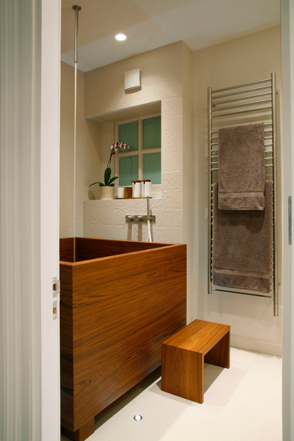 Kensington, London, UK contemporary-bathroom
