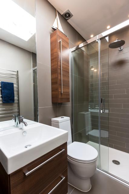 Kensington Town House contemporain-salle-de-bain