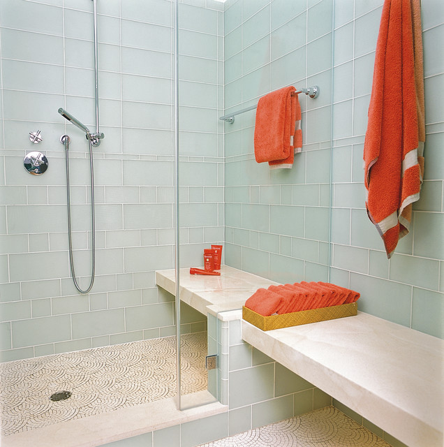 How to clean shower doors houzz for Easy clean bathroom design