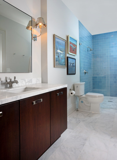 Kenwood 10 000 Square Foot Renovation Contemporary Bathroom Chicago By Foster Design