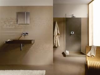 kerlite ultra thin porcelain tile - modern - bathroom