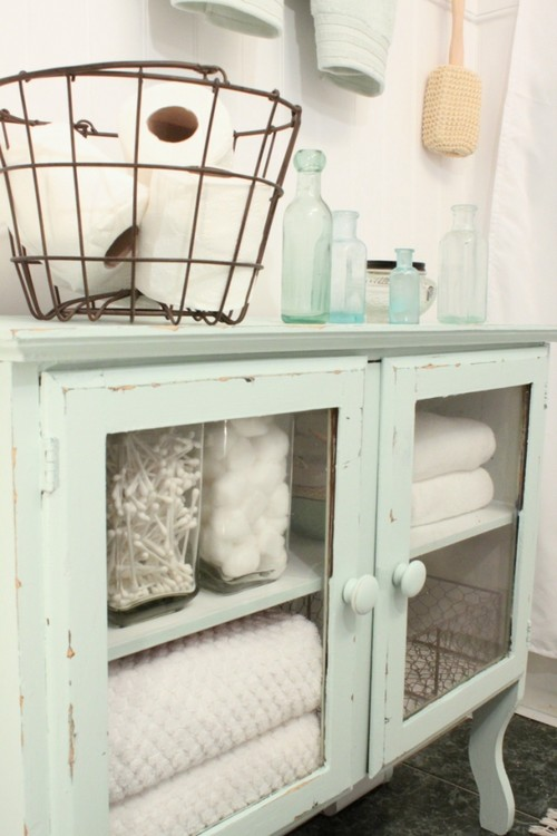 cabinet for bathroom storage via Houzz