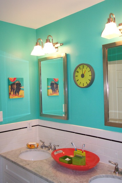 22 Eclectic Ideas Of Bathroom Wall Decor: Kid's Bathroom