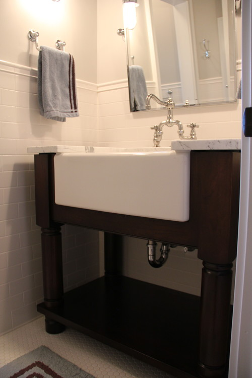 The Granite Gurus FAQ Friday Farmhouse Sink in the Bathroom