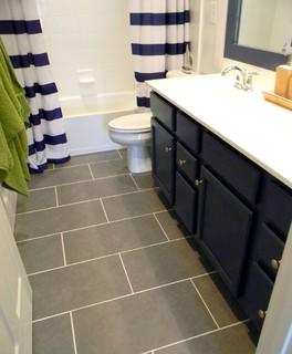 mesmerizing nautical bathroom makeover | Kid's Nautical Bathroom Makeover - Traditional - Bathroom ...
