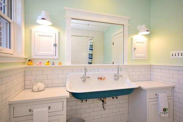 Kids Bath Brockway Sink Traditional Bathroom