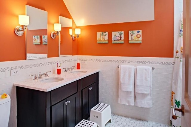 Kids 39 S Bath Classic Colorful Modern Bathroom Newark By Tracey Stephens Interior