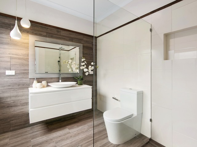 Kilsyth - Renovation contemporary-bathroom