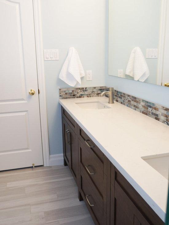 Caesarstone Frosty Carrina Bath Design Ideas, Pictures, Remodel & Decor