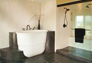 Kirkland master bath asian bathroom seattle by for Bathroom decor kirklands