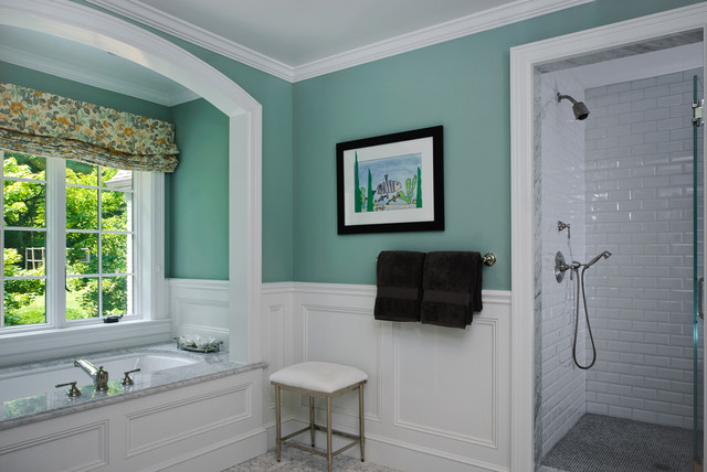 Kitchen And Bath In A Mt Kisco Colonial Traditional