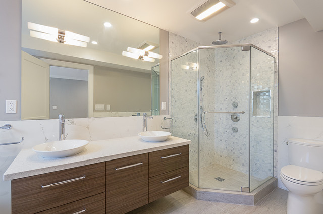 New Classic Light And Plumbing Fixtures Transitionalbathroom
