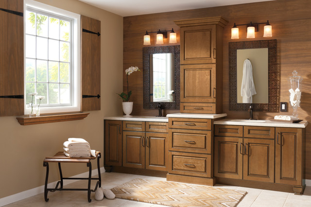 Kitchen craft bathroom cabinets traditional bathroom for Kitchen cabinets lowes with seashell wall art craft
