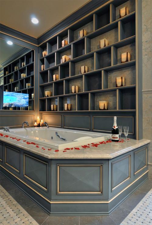 bathroom design ideas how to include a flatscreen tv - Tv In The Bathroom