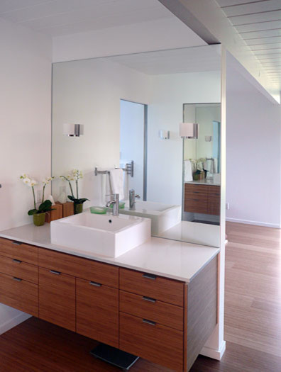 Klopf architecture master bathroom vanity area for Mid century modern master bathroom