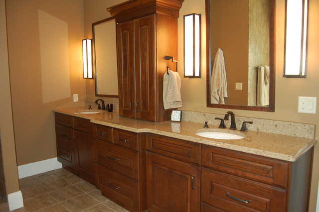 Klosterman 2012 Coralville Residence  Traditional  Bathroom  Cedar