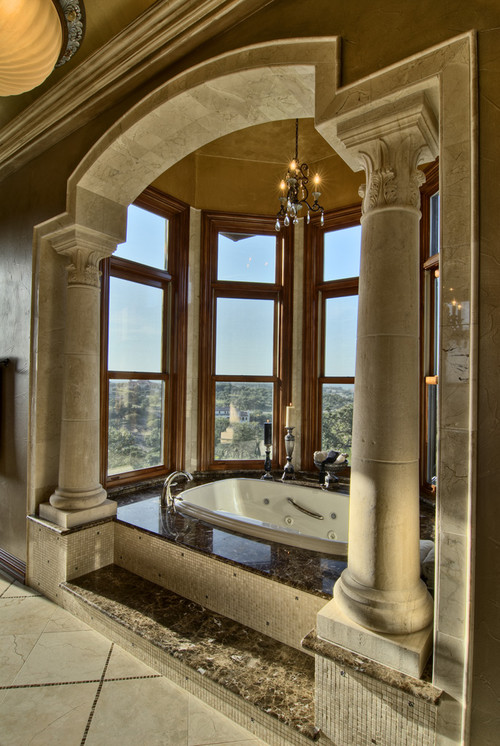 Climbing up and into the tub for Bathroom interior design austin tx