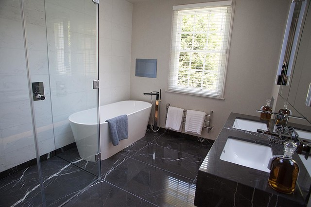Knightsbridge Townhouse Project Contemporary Bathroom London By Tiles Baths Direct