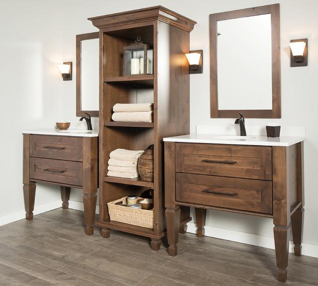 Knotty Alder Master Bathroom Furniture From Dura Supreme Cabinetry Scandinavian Bathroom