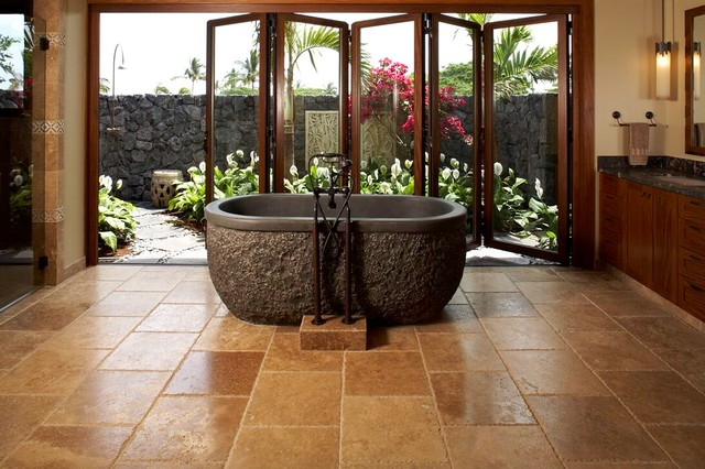 Knudson Interiors tropical bathroom