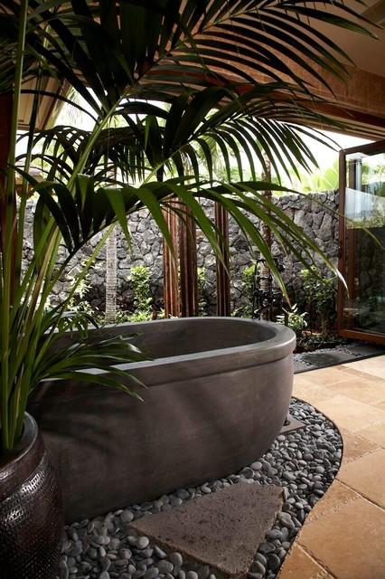 Knudson Interiors tropical-bathroom