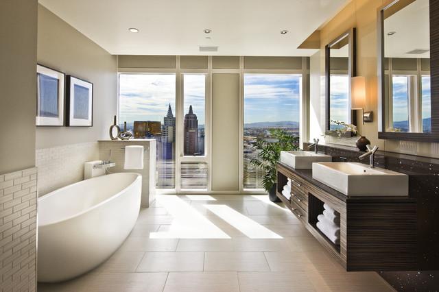 Bathroom Design Las Vegas knudson interiors - contemporary - bathroom - las vegas -