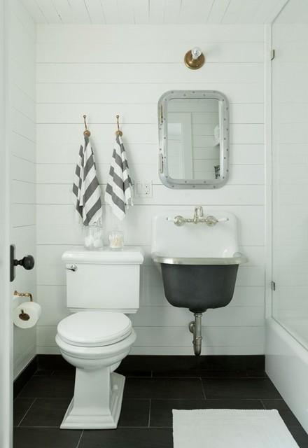 "Kohler Bannon 20-1/4"" Service Sink in White with Rim Guard - Farmhouse - Bathroom - New York ..."