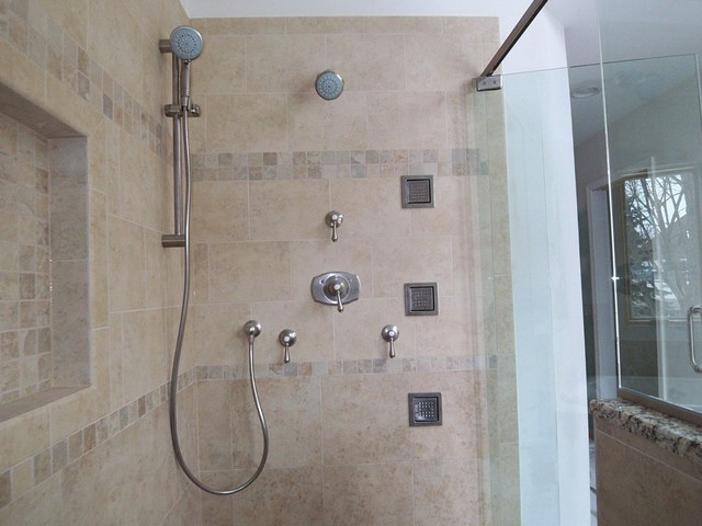 Kohler Body Sprays With Grohe Shower Heads And Trim Traditional Bathroom