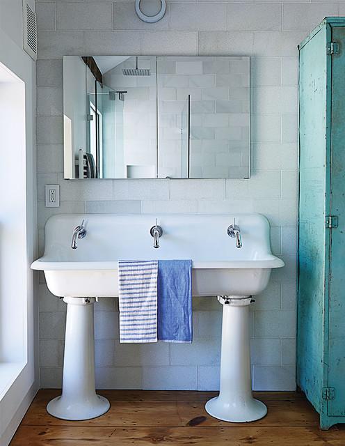 kohler brockway 5 three holes wall mount wash sink farmhouse bathroom new york by homeclick. Black Bedroom Furniture Sets. Home Design Ideas