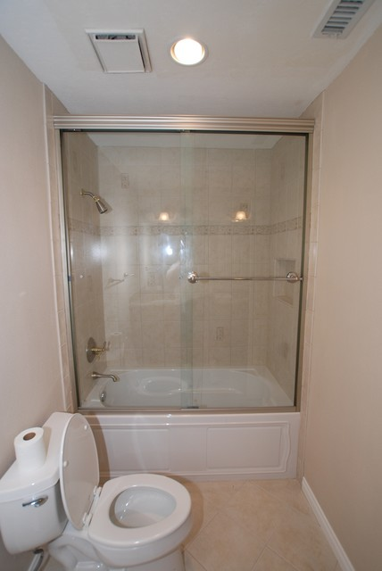 Kohler Tub And Shower : Kohler Devonshire Tub With Recessed Shampoo Shelf & Tall Shower Doors ...