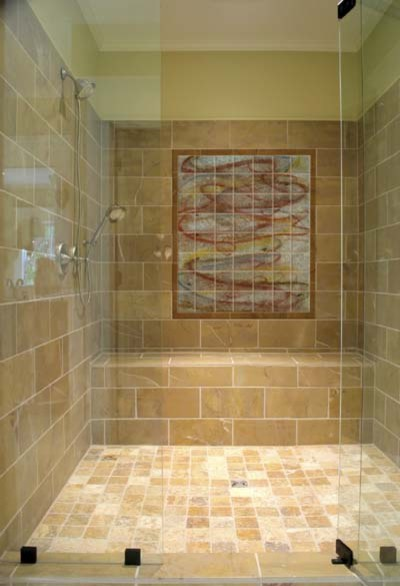 Bathrooms gulfshore tile bathrooms glass tile bathroom for 4x5 bathroom ideas