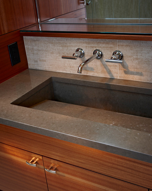 ... wide sink.jpg - Contemporary - Bathroom - portland - by Kraft Custom