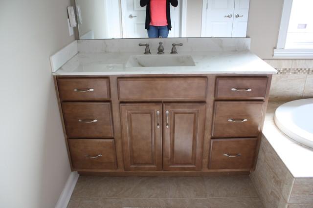 Kraftmaid Belmont Maple Rye Master Bathroom