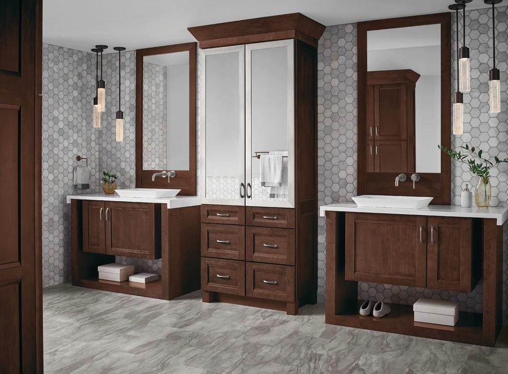 Kraftmaid Kaff 233 Suede Vanity Transitional Bathroom Detroit By Kraftmaid