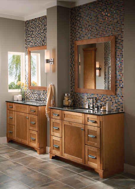 KraftMaid Kitchen & Bathroom Cabinets Gallery | Kitchen Cabinet Kings contemporary-bathroom