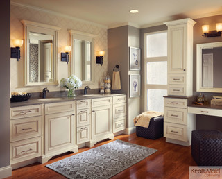 Kraftmaid Maple Door In Canvas With Cocoa Glaze Transitional Bathroom Detroit By Kraftmaid