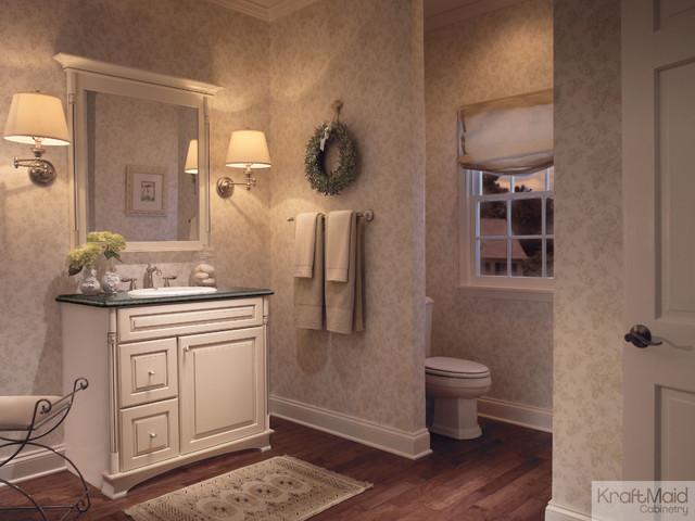 Kraftmaid Maple Vanity In Canvas With Cocoa Glaze Traditional Bathroom
