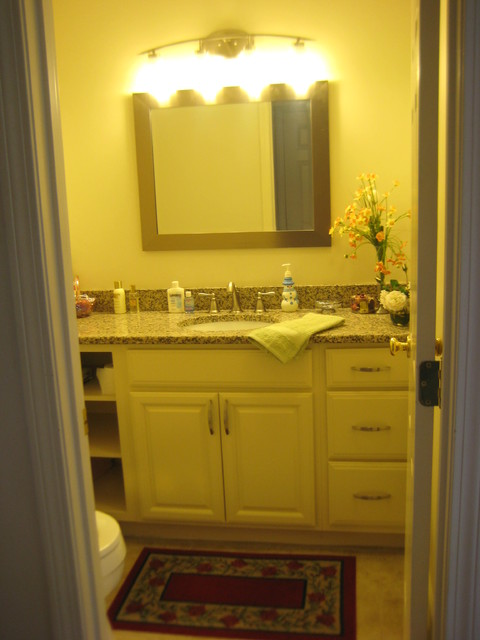 Kraftmaid Montclair Canvas Kitchen-McNally - Traditional - Bathroom - providence - by Lowes of ...
