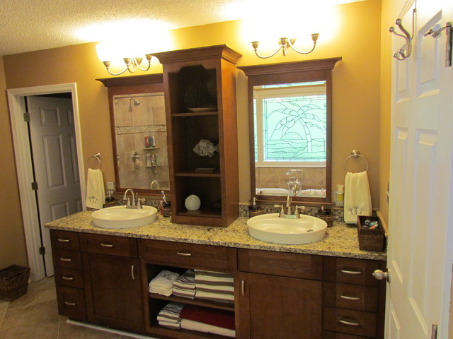Kraftmaid Sonata Cherry Harris Traditional Bathroom Charlotte By Lowes Of Indian Land Sc
