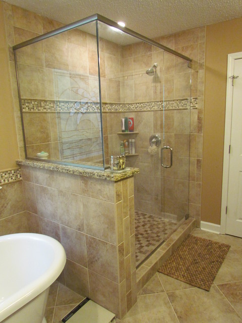Kraftmaid Sonata Cherry - Harris - Traditional - Bathroom - charlotte - by Lowes of Indian Land, SC