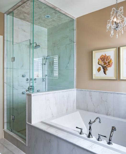Kylemore model home oakley transitional bathroom for Model bathrooms photos
