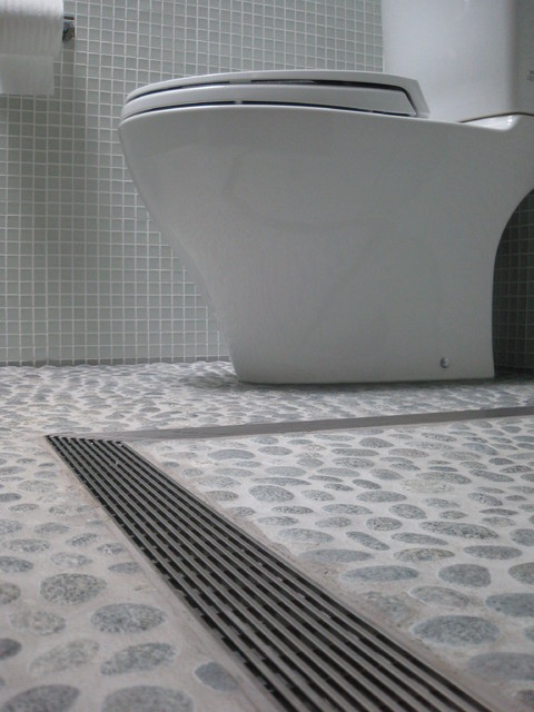L Shaped Infinity Drain Barrier Free Contemporary Bathroom By Infinity Drain