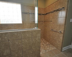 L-Shaped Shower traditional bathroom