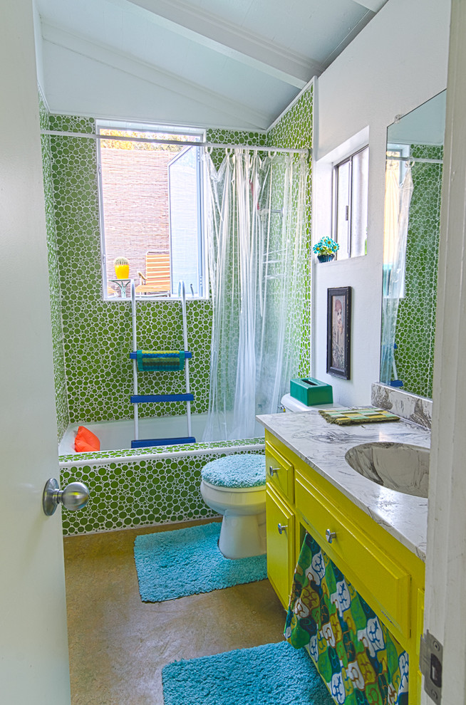 La 70s Eclectic Bathroom Los Angeles By Alex Amend Photography Houzz