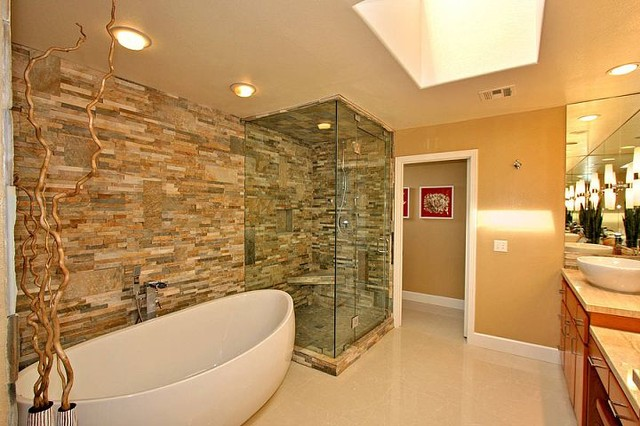 La jolla beach condo modern bathroom san diego by anna rode designs inc - Bathroom design san diego ...