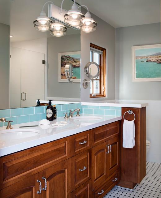 Coastal Style Bathroom: La Jolla Beach Cottage