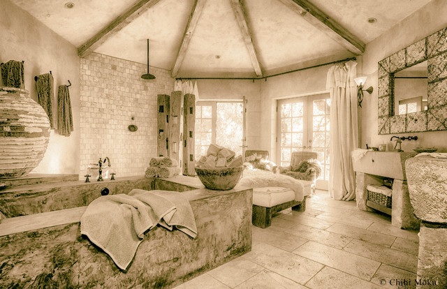 La Maison De La Pierre   Artistic Interiors By Chibi Moku Rustic Bathroom