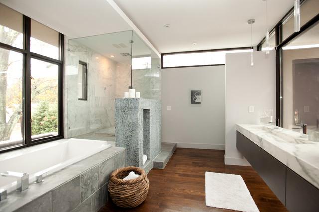 lafrance residence bathroom modern bathroom atlanta by cablik enterprises. Black Bedroom Furniture Sets. Home Design Ideas