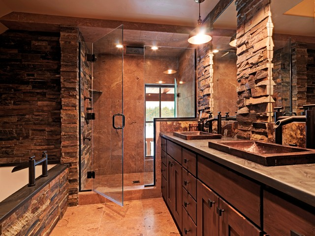 Lahontan home truckee rustic bathroom other metro Rustic country style bathrooms